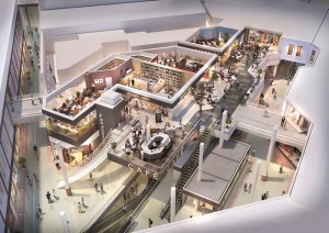 Food Court in City Square Waterford Artists impression