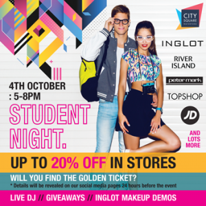 student night city square waterford